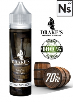 Lichid Tigara Electronica Drakes Saint James Perique Extras Natural la Rece din Tutun Organic, 60ml, 3mg NicSalts, DIY, 70VG 30PG