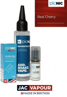 Pachet 60ml Lichid Tigara Electronica Premium Jac Vapour Real Cherry, Nicotina 3mg/ml, 80%VG 20%PG, Fabricat in UK, DiY