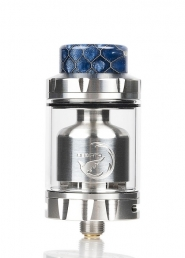 Atomizor Hellvape Rebirth RTA Stainless Steel, Servisabil, Sticla rezerva 5 ml inclusa