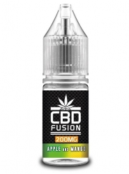Lichid CBD Fusion Apple and Mango, 10ml, 200mg, CBD Organic, Concentratie 2%, fara THC, fabricat in UK, Calitate Premium