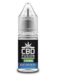 Lichid CBD Fusion Blue Raspberry 10ml, 100mg, CBD Organic, Concentratie 1%, fara THC, fabricat in UK, Calitate Premium
