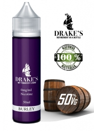 Lichid Tigara Electronica Drakes Burley Handcrafted, NET - Extras Natural din Frunze de Tutun Organic Macerate la Rece, 50 ml, 0mg 50VG/50PG