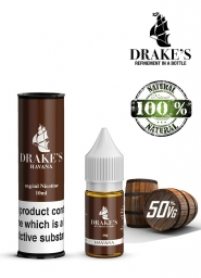 Lichid Tigara Electronica Drakes Havana Handcrafted, NET - Extras Natural din Frunze de Tutun Organic, Macerate la Rece, 10 ml, 0mg Nicotina
