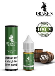 Lichid Tigara Electronica Drakes Menthol Handcrafted, NET - Extras Natural din Frunze de Tutun Organic, Macerate la Rece, 10 ml, 0mg Nicotina