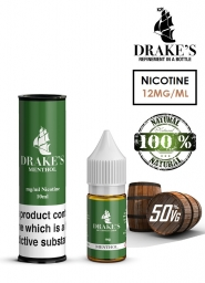 Lichid Tigara Electronica Drakes Menthol Handcrafted, NET - Extras Natural din Frunze de Tutun Organic, Macerate la Rece, 10 ml, 12mg Nicotina
