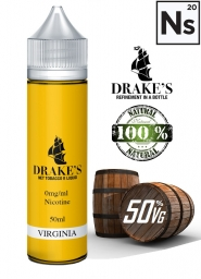 Lichid Vape Drake's Virginia Extras la Rece din Tutun Bio-Organic, 50ml, Shortfill 60ml, 3mg NicSalts, DIY, 50VG 50PG