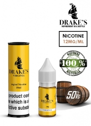 Lichid Tigara Electronica Drakes Virginia Handcrafted, NET - Extras Natural din Frunze de Tutun Organic, Macerate la Rece, 10 ml, 12mg Nicotina