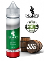Lichid Tigara Electronica Handcrafted Drakes Balkan Blend, NET - Extras Natural din Tutun Organic, Macerat la Rece, 50 ml, 0mg 50VG/50PG