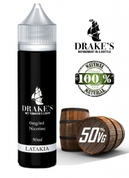 Lichid Tigara Electronica Handcrafted Drakes Cypriot Latakia, Extras Natural la Rece din Tutun Organic, 50ml, 0mg 50VG/50PG