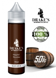 Lichid Tigara Electronica Handcrafted Drakes Havana, Extras Natural din Frunze de Tutun Organic, Macerate la Rece, 50 ml, 0mg 50VG/50PG