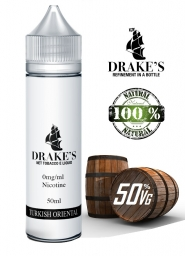 Lichid Tigara Electronica Handcrafted Drakes Turkish Oriental, NET - Extras Natural din Tutun Organic, Macerat la Rece, 50 ml, 0mg 50Vg/50Pg