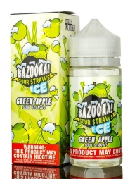 Lichid Tigara Electronica Premium Bazooka Green Apple ICE, 100ml, Fara Nicotina, 70VG / 30PG, Fabricat in USA, Shortfill 120ml