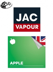 Lichid Tigara Electronica Jac Vapour Apple 10ml, cu Nicotina, 50%VG 50%PG, Fabricat in UK