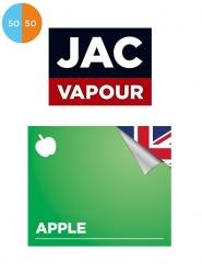 Lichid Tigara Electronica Premium Jac Vapour Apple 10ml, Fara Nicotina, 50%VG 50%PG, Fabricat in UK