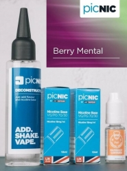 Lichid Tigara Electronica Premium Jac Vapour Berry Mental 70ml, Nicotina 5,1mg/ml, 80%VG 20%PG, Fabricat in UK, Pachet DiY