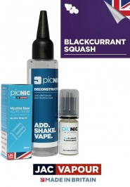 Pachet Lichid DiY Tigara Electronica Premium Jac Vapour Blackcurrant Squash 60ml, Nicotina 3mg/ml, 80%VG 20%PG, UK made