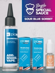 Lichid Tigara Electronica Premium Jac Vapour Bryn's Special Sauce Sour Blue Sorbet 70ml, Nicotina 5,1mg/ml, 80%VG 20%PG, DiY