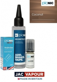 Pachet Lichid 60ml Tigara Electronica Premium Jac Vapour Coconut, Nicotina 3mg/ml, 80%VG 20%PG, Fabricat in UK, DiY