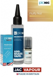 Pachet Lichid 60ml Tigara Electronica Premium Jac Vapour Fluffy Nut, Nicotina 3mg/ml, 80%VG 20%PG, Fabricat in UK, DiY