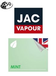 Lichid Tigara Electronica Jac Vapour Mint 10ml, cu Nicotina, 50%VG 50%PG, Fabricat in UK