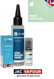 Pachet 60ml Lichid Tigara Electronica Premium Jac Vapour Pure Menthol, Nicotina 3mg/ml, 80%VG 20%PG, Fabricat in UK, DiY