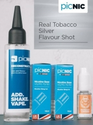 Lichid Tigara Electronica Premium Jac Vapour Real Tobacco Silver 70ml, Nicotina 5,1mg/ml, 80%VG 20%PG, Fabricat in UK, Pachet DiY