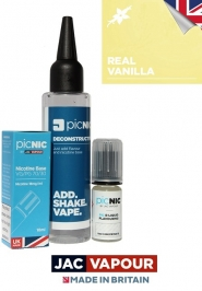 Pachet DiY 60ml Lichid Tigara Electronica Premium Jac Vapour Real Vanilla, Nicotina 3mg/ml, 80%VG 20%PG, Fabricat in UK