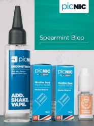 Lichid Tigara Electronica Premium Jac Vapour Spearmint Bloo 70ml, Nicotina 5,1mg/ml, 80%VG 20%PG, Fabricat in UK, Pachet DiY