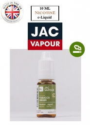 Lichid Tigara Electronica Premium Jac Vapour Tobacco Virgin 10ml, Nicotina 18mg/ml, 50%VG 50%PG, Fabricat in UK