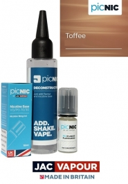 Pachet DiY 60ml Lichid Tigara Electronica Premium Jac Vapour Toffee 60ml, Nicotina 3mg/ml, 80%VG 20%PG, Fabricat in UK