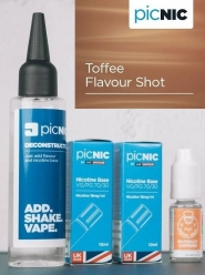 Lichid Tigara Electronica Premium Jac Vapour Toffee 70ml, Nicotina 5,1mg/ml, 80%VG 20%PG, Fabricat in UK, Pachet DiY