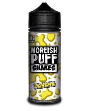 Lichid Tigara Electronica Premium Moreish Puff Shakes Banana, 100ml, Fara Nicotina, 70VG / 30PG, Fabricat in UK, Recipient 120ml